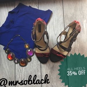 Sophia & Lee Multicolored Stiletto Sandal